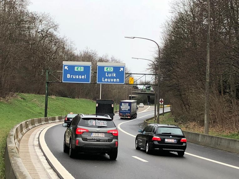 De verkeerswisselaar in Sint-Stevens-Woluwe