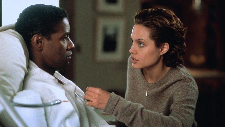 Denzel Washington en Angelina Jolie in The Bone Collector. Beeld