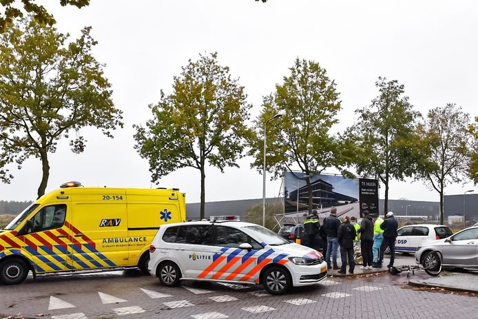 Ongeluk op Swaardvenstraat in Tilburg.