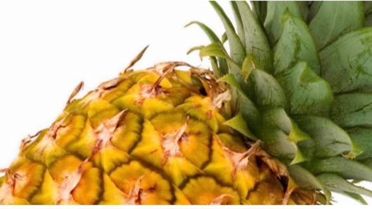 Een close-up van een ananas. Journalist Lex Boon raakte geobsedeerd met de tropische vrucht en schreef er een boek over.  Beeld
