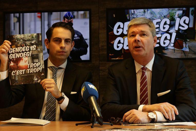 Voorzitter van Vlaams Belang, Tom Van Grieken, stelde vandaag de campagne 'Genoeg is genoeg' voor.