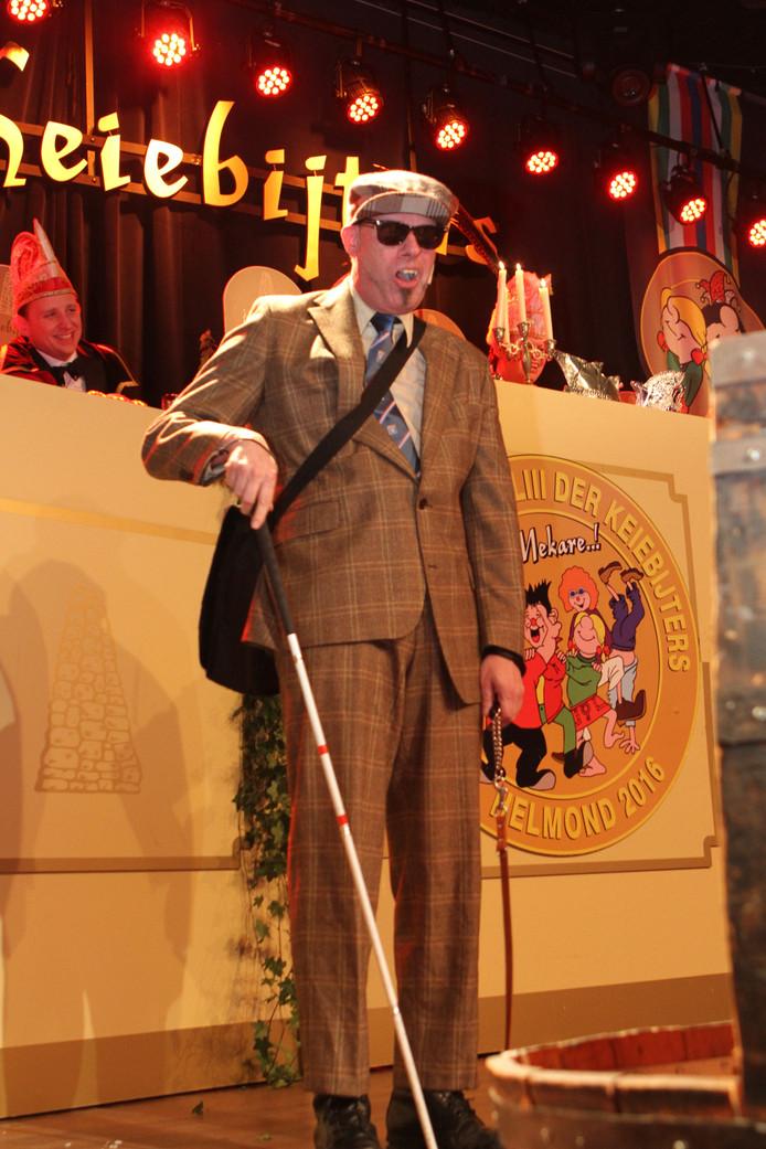 Andy Marcelissen staat in de finale van het Keiebijters Kletstoernooi in Helmond.