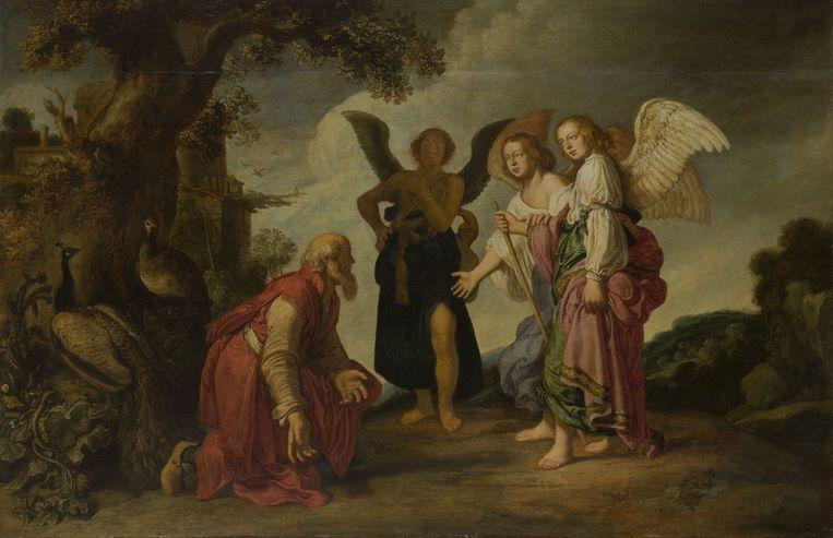 'Abraham en de drie engelen', van Pieter Lastman  Beeld © State Hermitage Museum, St Petersburg