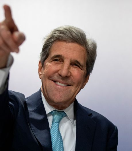 John Kerry geeft Amerika's nieuwe visitekaartje over klimaatzorgen af in Den Haag