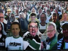 Gladbach speelt zaterdag in 'vol' stadion: kartonnen fans niet aan te slepen