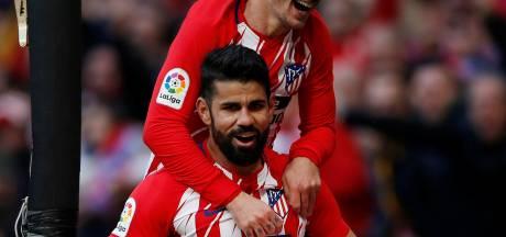 Atlético Madrid blijft in spoor van Barcelona