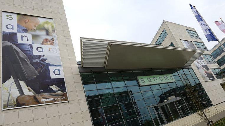 Het hoofdkantoor van Sanoma in Hoofddorp. Beeld null