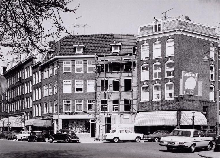 Beukenplein eind jaren 60. Beeld Archief van de Gemeentelijke Dienst Volkshuisvesting