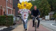 """Joeri (43) loopt marathon van Brussel in frietzak om 'Belgian fries' te promoten: """"Hopelijk blijft het droog die dag want dat pak weegt 7 kilo"""""""
