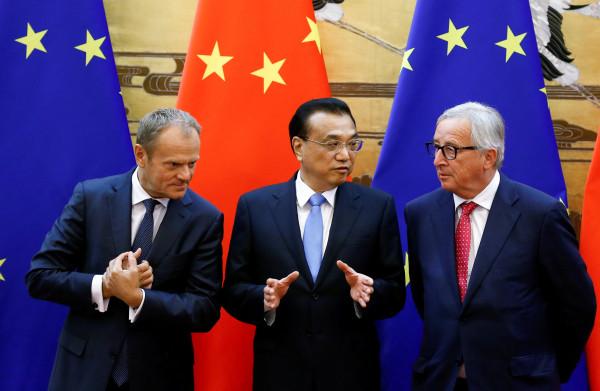 **China flirt uitbundig met de EU, hopend zo samen Trumps handelsoorlog te omzeilen**