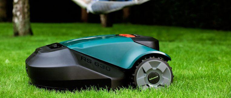 Mag niet ontbreken: een robotgrasmaaier. De prijzen ervan gingen de afgelopen jaren steil naar beneden.