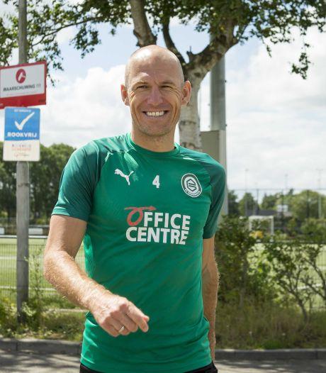 Robben verwacht vrijdag rentree te maken bij FC Groningen