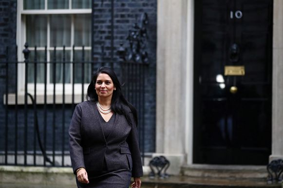 De Britse minister van Binnenlandse Zaken PritiPatel.