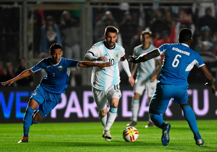 Lionel Messi speelde maar één helft tegen Nicaragua, maar was wel van grote waarde met twee goals.