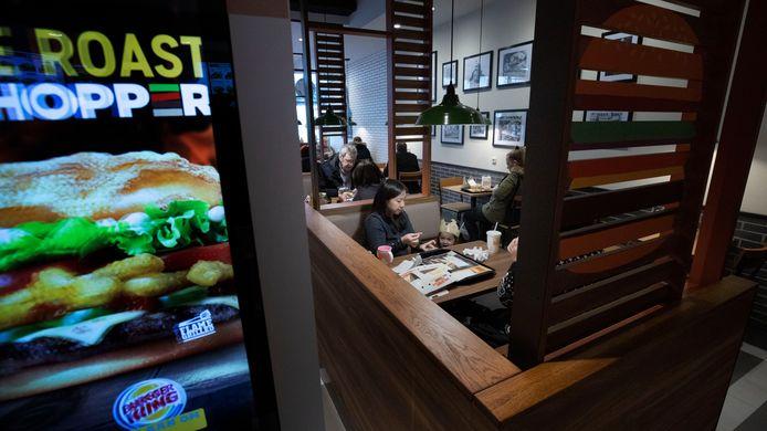 Interieur van de Burger King aan de Hermanus Boexstraat in Eindhoven.