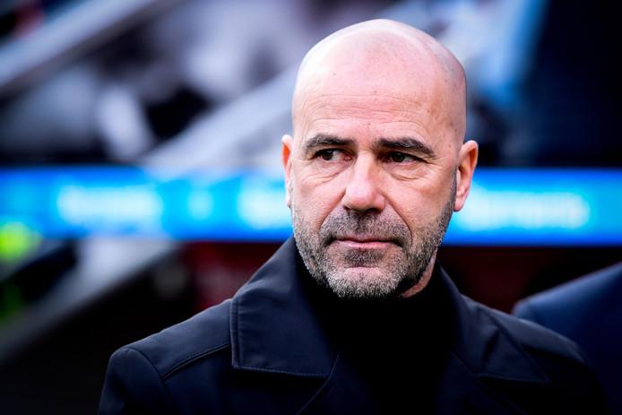 Peter Bosz, de coach van Bayer Leverkusen.