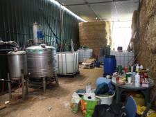 Drugslab Vorstenbosch zat verstopt tussen strobalen