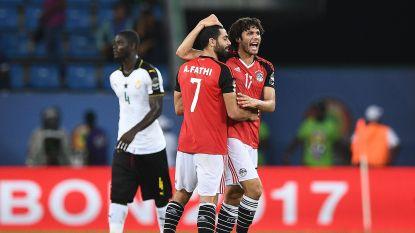 Egypte plaatst zich als laatste voor kwartfinales