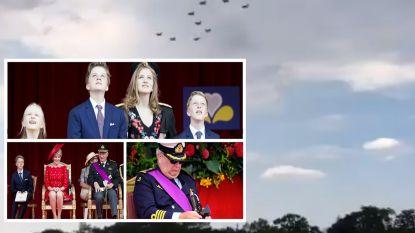 VIDEO. F-16's vormen cijfer '5' voor jubileum Filip