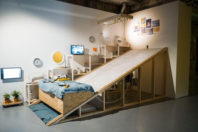 Het werk 'Horizontal Living' van Yiyun Chen, onderdeel van de expo bij MU.