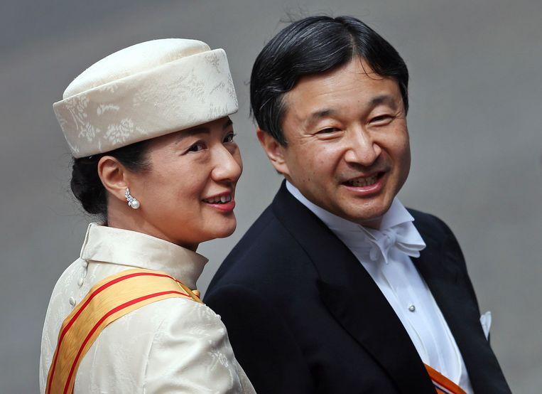Prins Naruhito and prinses Masako.