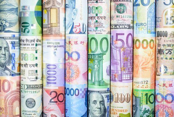 Euro's en buitenlands geld.