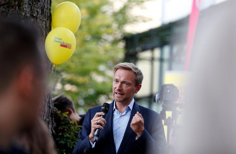 Christian Lindner van de FDP. Beeld null