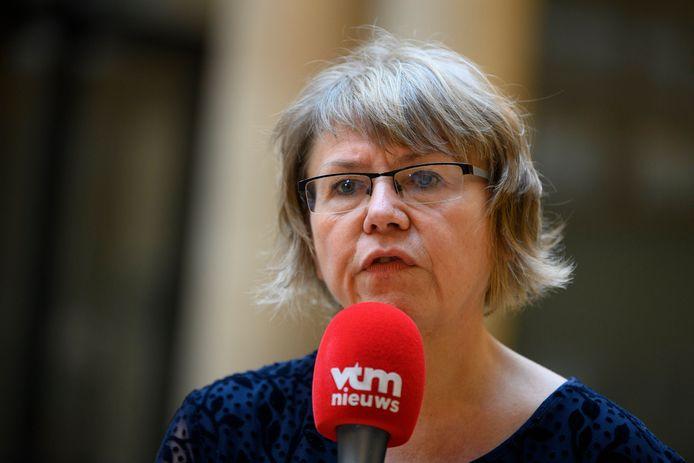 Voorzitter Karine Moykens van het Interfederaal Comité Testing & Tracing.