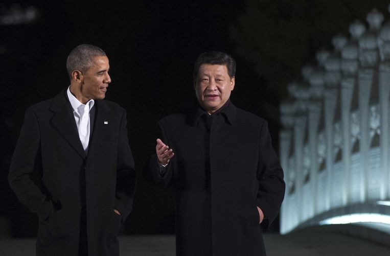 Barack Obama en Xi Jinping Beeld afp