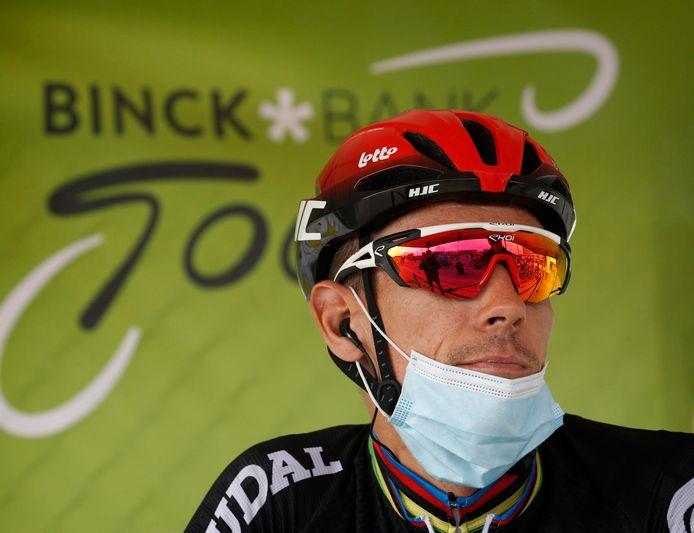 Gilbert dinsdag aan de start van de Binckbank Tour.