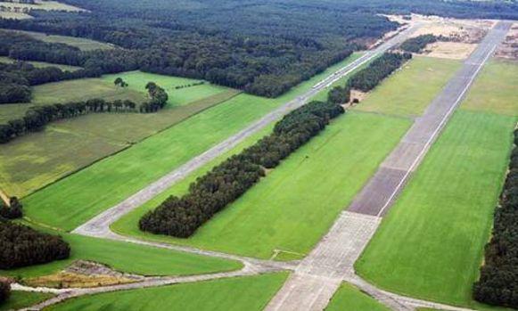 Het vliegveld van Malle.
