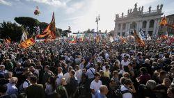 50.000 Italianen verzamelen in Rome na oproep van extreemrechtse Salvini