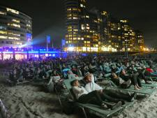 Vol Vlissings strand voor openluchtvoorstelling Jaws