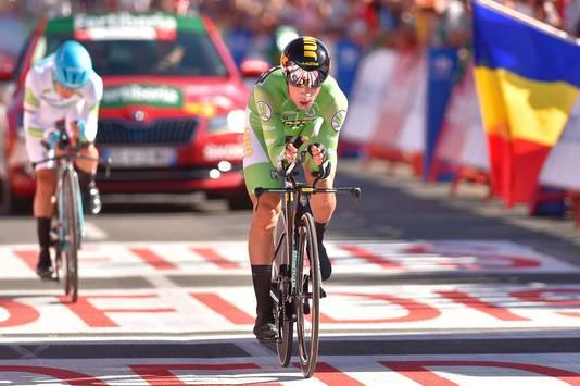 Roglic achterhaalde López zelfs nog vlak voor de finish.