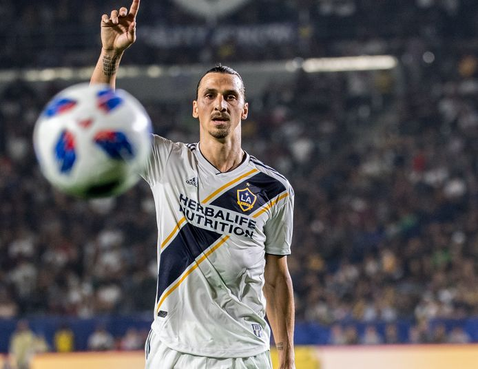 Zlatan Ibrahimovic in het shirt van LA Galaxy.