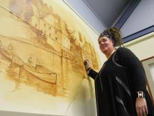 Drybrush-schilderes Hilda Haselberg legt berkelschippers in eigen 'loze' vast