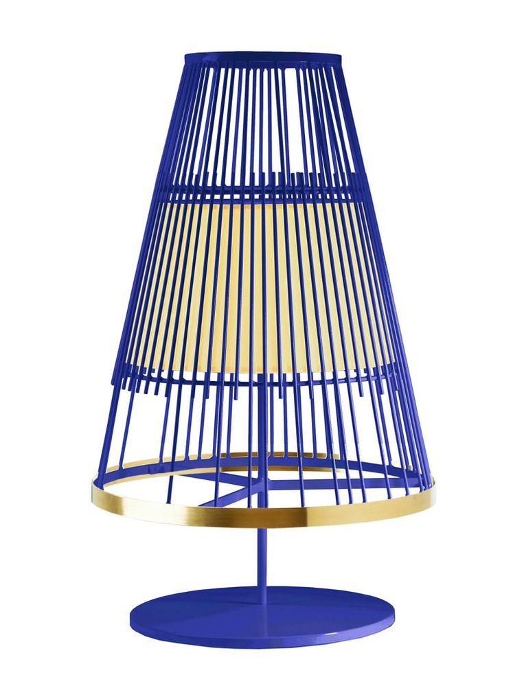 Staaldraad + klein: Tafellamp 'Up', € 840 Beeld