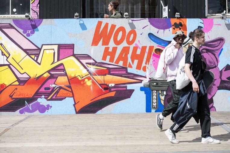 Festivals, zoals hier Woo Hah, zijn bij uitstek een plek waar nieuwe kunstvormen worden gepresenteerd en waar een divers publiek te vinden is, zegt de Raad voor Cultuur. Beeld ANP