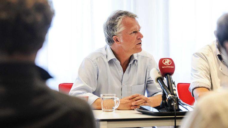 Wouter Bos, bestuursvoorzitter VUmc, tijdens een persconferentie Beeld anp