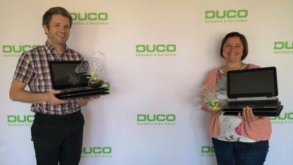 Veurns bedrijf Duco schenkt 7 laptops aan school voor bijzonder onderwijs De Rozenkrans