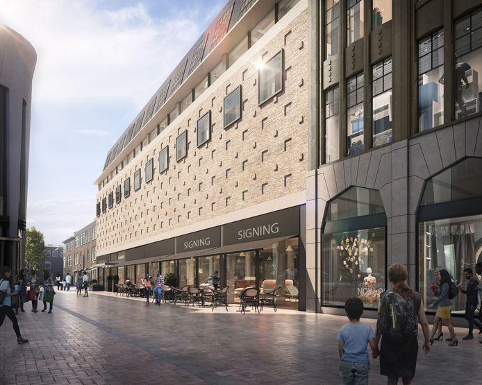 Een impressie van het plan voor hotel Lindershof dat door Kroonenberg Groep is afgeblazen vanwege de coronacrisis.