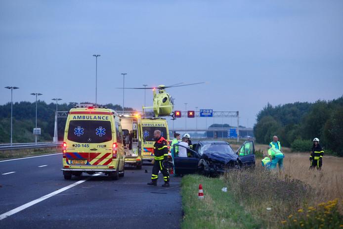 Dode bij zwaar ongeluk op A58 bij Gilze