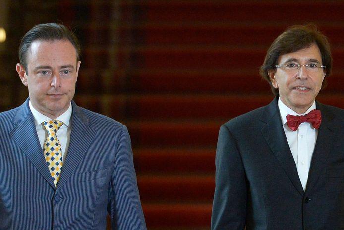 Bart De Wever et  Elio Di Rupo