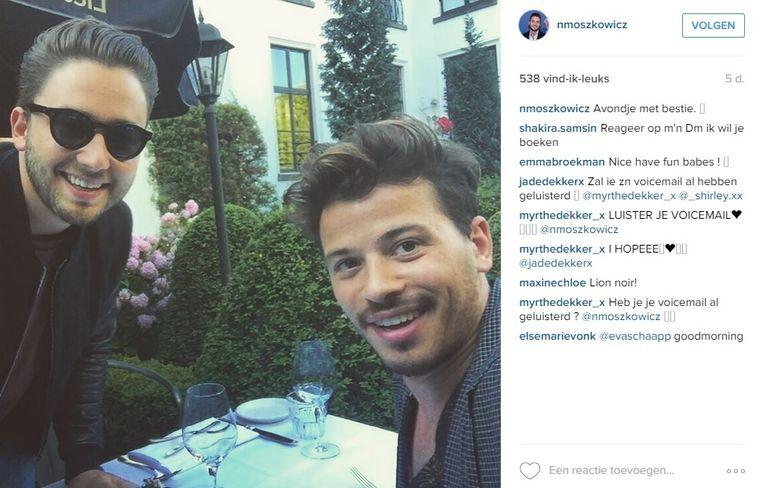 Nathan moszkowicz en Géza Weisz. Beeld Instagram