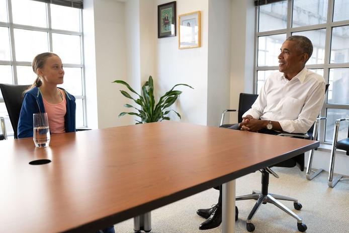 Greta Thunberg a été reçue à la fondation Obama à Washington