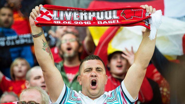 Supporters van Liverpool. Beeld epa