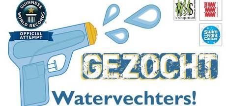 Officiële recordpoging: Grootste waterpistolengevecht ter wereld op de Markt in Den Bosch