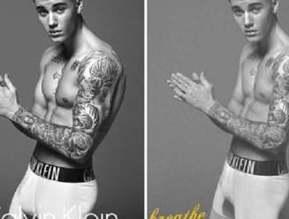 Ondergoedfoto's van Justin Bieber extreem gephotoshopt