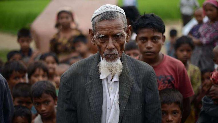 Rohingya's in een vluchtelingenkamp in Burma, eerder deze maand. Beeld AFP