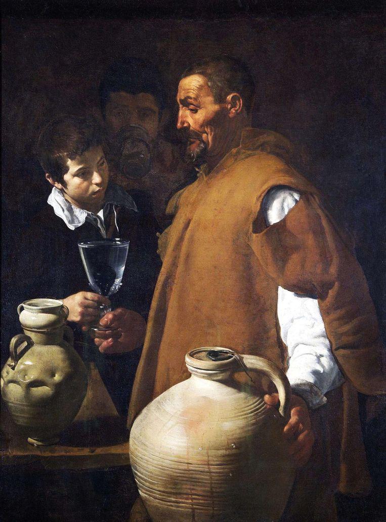 Schilderij: De watervrekoper van Sevilla, Diego Velázquez. 'Zie de schoonheid van kalmte.' Beeld
